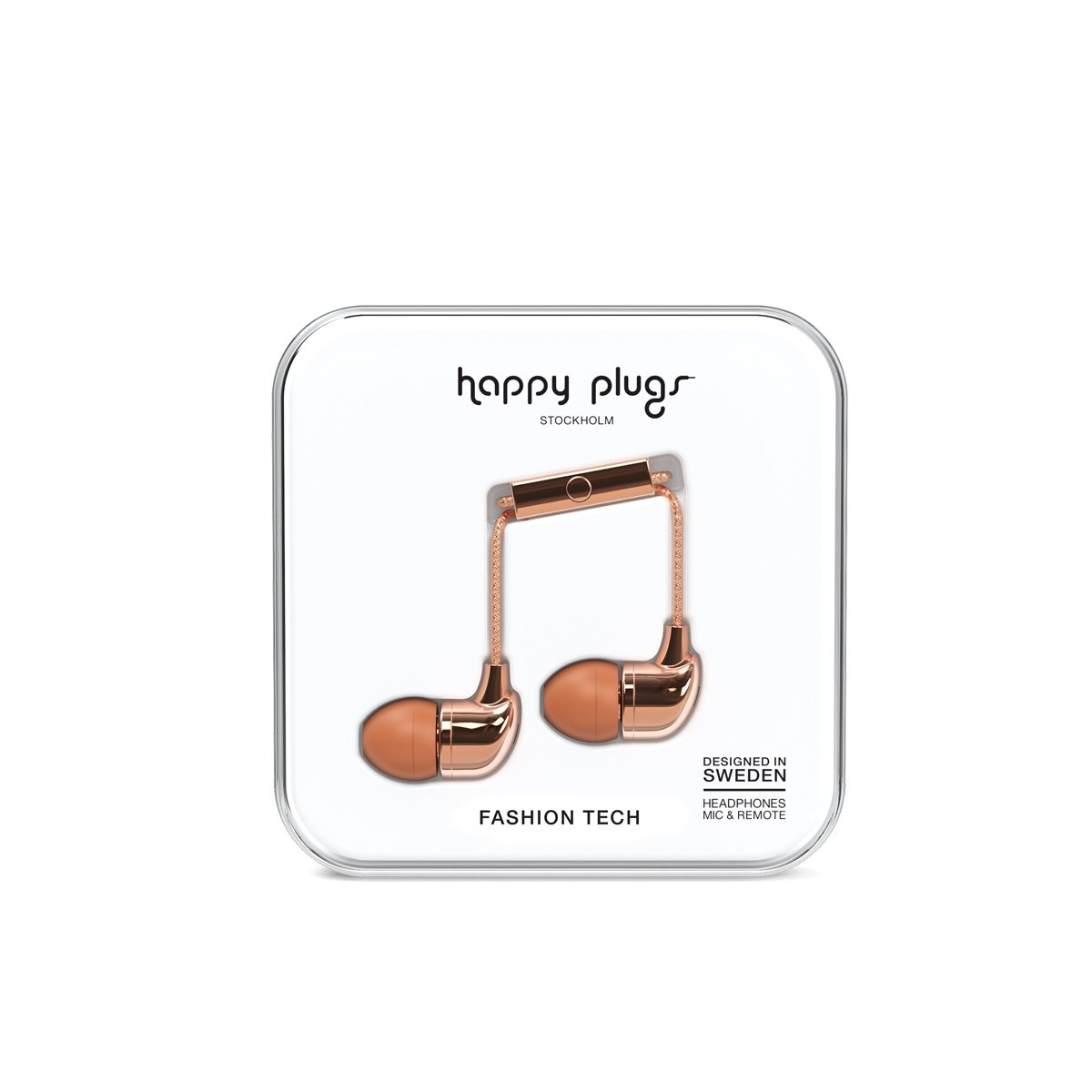 Audifonos C Microfono In Ear Rose Deluxe Gold Happy Plugs