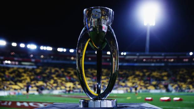The prize: The Super Rugby trophy.