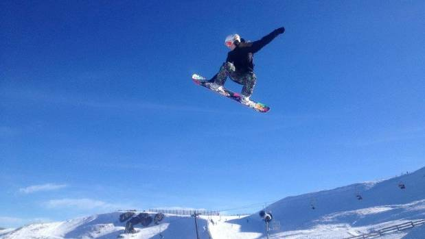 Snowboarding is already pretty extreme. 'Droneboarding' is a whole new level.