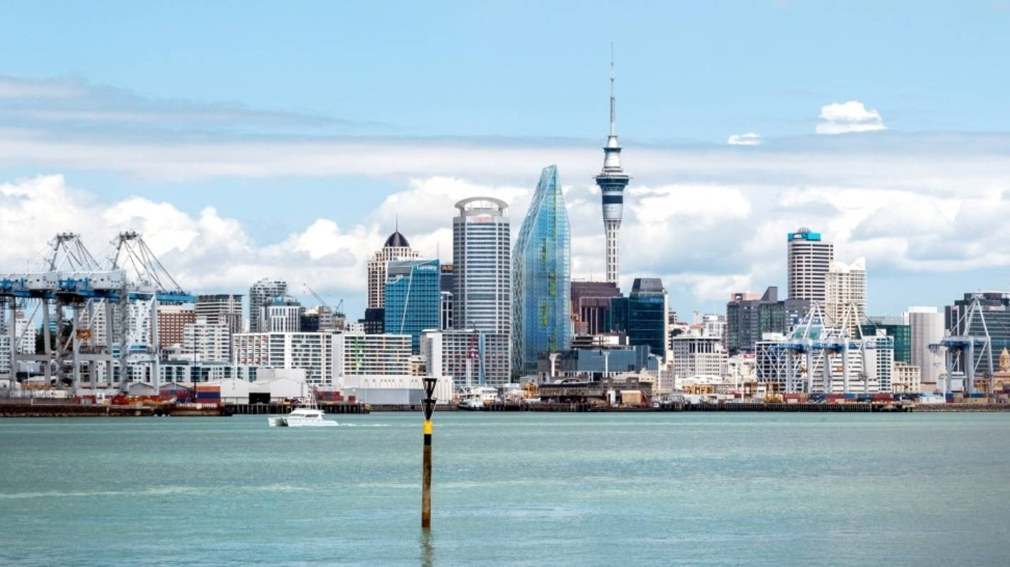 Weak Base Being Fixed On Seascape Aucklands Tallest