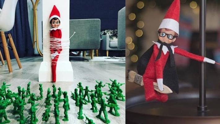 15 Creative 'Elf On The Shelf' Ideas To Steal This