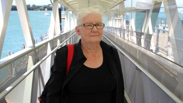 Gay Pemberton's 21-year-old granddaughter was trapped in this ferry on-ramp after being dropped at the locked and ...