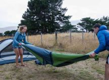 Views win over visitors at new campsite at Awaroa/Godley Head in Christchurch | Stuff.co.nz