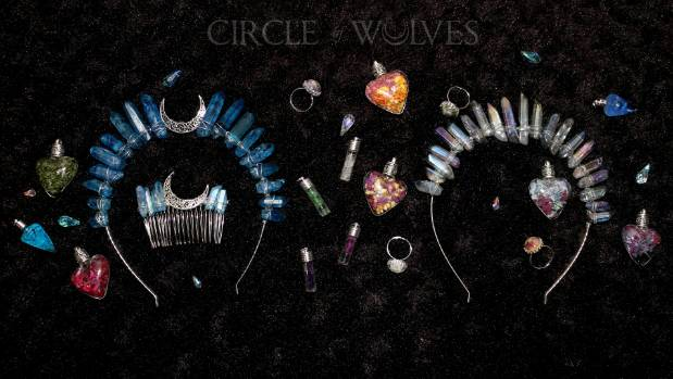 She also makes Moon Goddess crystal crowns, which are