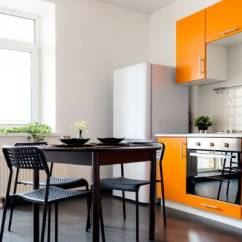 Kitchen Cabinets Cheap Tiny Appliances How To Spruce Up Your On The Stuff Co Nz Bright Orange Painted And Drawers Certainly Brighten A White