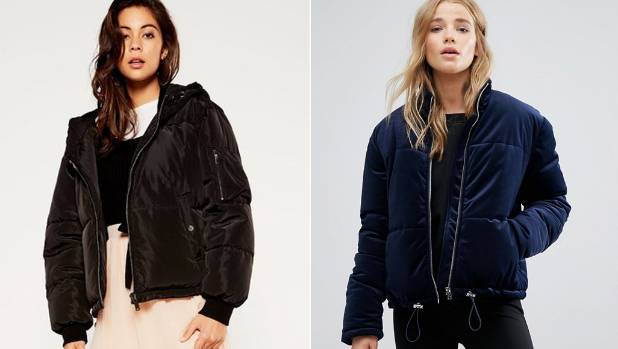 Glassons bomber-style puffer jacket, $90, has a luxe-looking satin finish, or embrace three trends in one with New ...