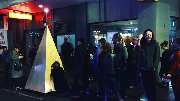 Matt Liggins' The Real Pyramid Schemer art installation project at last year's Auckland Art Week.