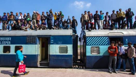 ''A train ride in India is people; it's so many people. It's the best and worst of humanity.''