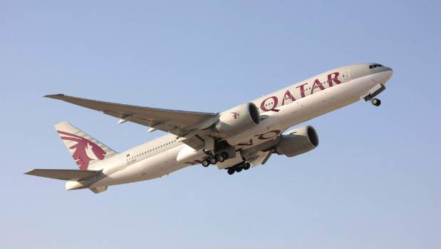 Qatar Airways uses a Boeing 777-200 LR to fly between Doha and Auckland - the world's longest commercial flight.