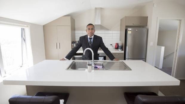 Financial adviser and rental property owner Joseph Williams in his property which failed the new Wellington City Council ...