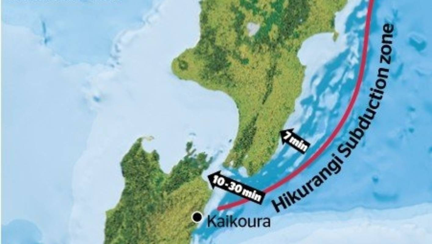 Hikurangi Subduction Zone Part Of A Huge 3500km Long System Stuff Co Nz