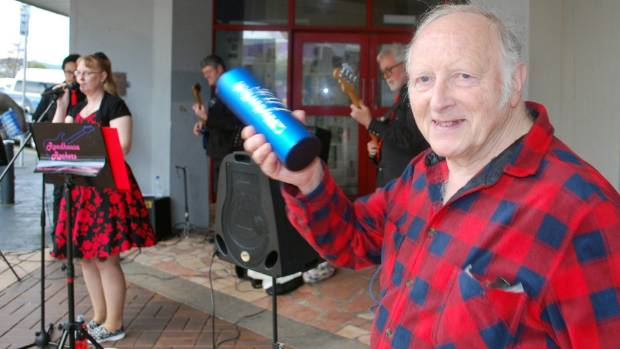 Angus Gibb was part of the entertainment at the Naenae market.