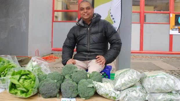 Bharat Patel had a wide range of vegetables for Naenae residents.