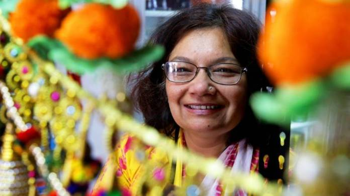 Himani Mishra Galbraith, director of the Diwali Festival Committee, prepares for Invercargill's first official Diwali celebration on Saturday at ILT Stadium Southland.