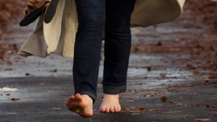 barefoot woman ordered to