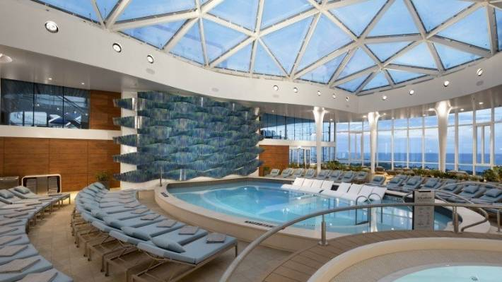 Developed by Tom Wright, an adult-only solarium on Celebrity Edge.