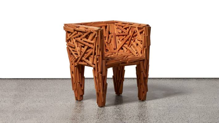 campana brothers favela chair red rocking song mid century furniture auction includes sought after classics stuff fernando and humberto the was designed by brazilian