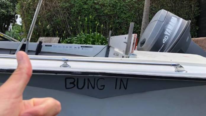 Jordan Watson's new Facebook Marketplace purchase – a dodgy boat.