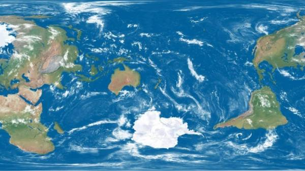 New Zealand front and centre of world map Stuffconz