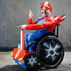Wheelchair Mario Anti Gravity Chair Tray Super Impersonator Bound To Turn Heads At Rugby
