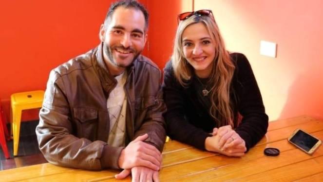 Hussein and Aya Al-Umari. Hussein Al-Umari was killed in the Christchurch terror attack. Aya Al-Umari will fly to Mecca next week.