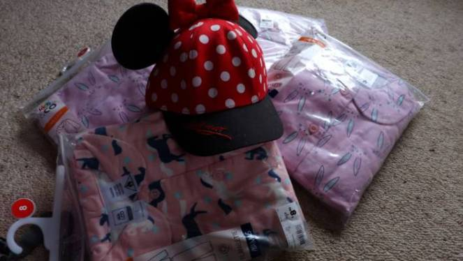 Pyjamas still in their packets and a hat from Disneyland were among the items left behind.