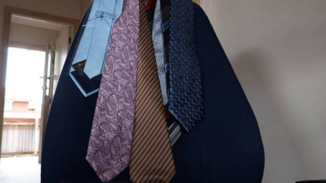 Some of the neckties worn by Yasser Maklad.