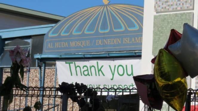 Masjid Al-Huda in Dunedin in the days after the Christchurch terror attack