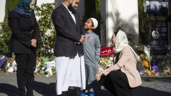 Prime Minister Jacinda Ardern met with members of Masjid Al Noor following the deadly attack in March 2019.