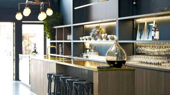 The elegant Hastings Distillers tasting room.