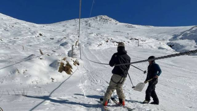 Skiers were quick to make the most of the good conditions.