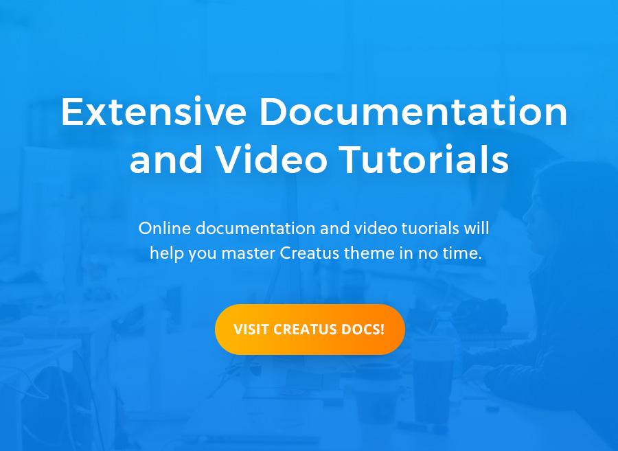 Creatus WordPress Theme Documentation