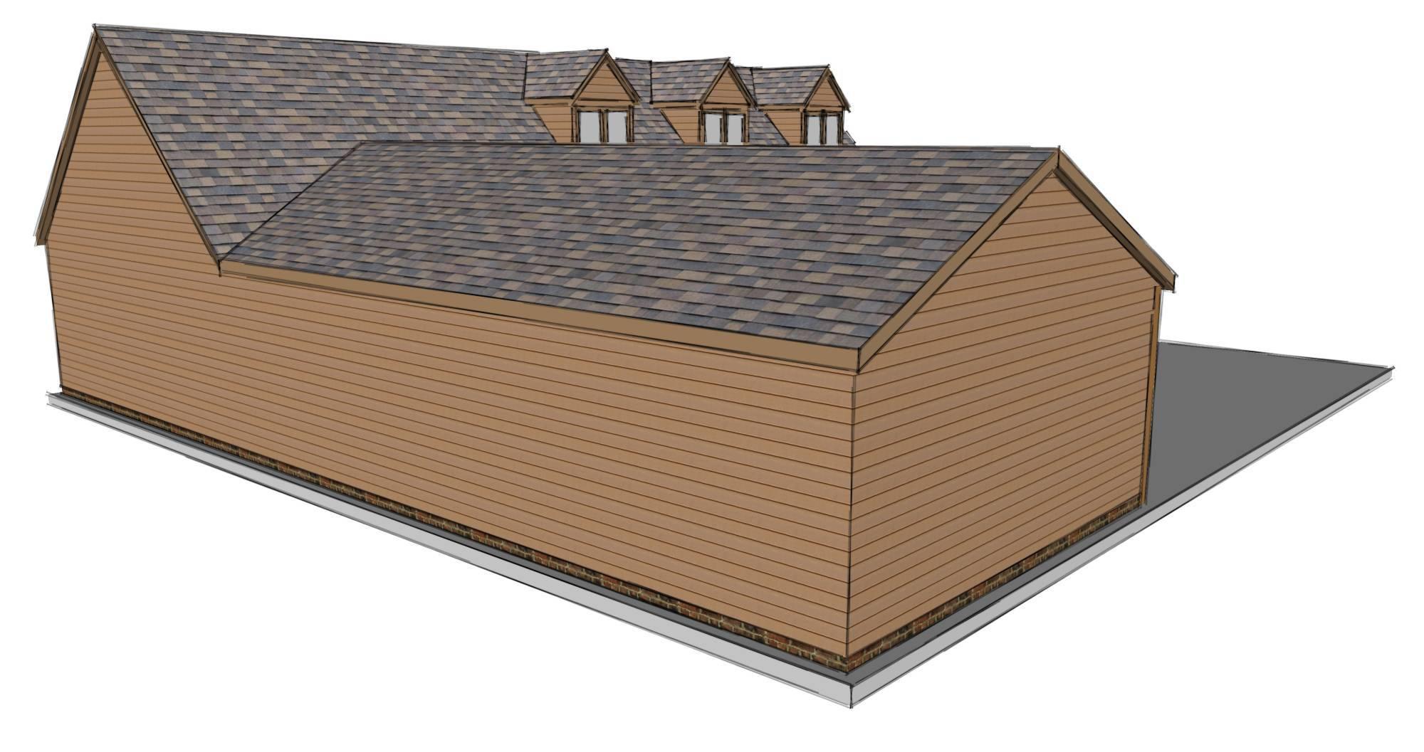 L Shaped Garage Scheme - Stable Company