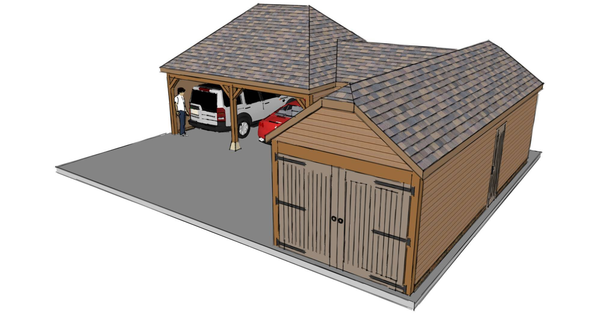 Houses with Garages L-shaped Designs