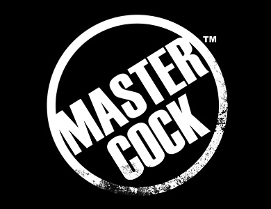 Master Cock Logo on Black 390 x 300
