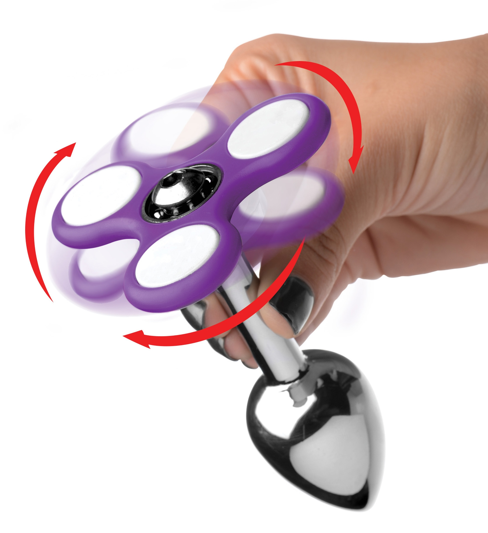 AF606 – Light Up Fidget Spinner Anal Plug