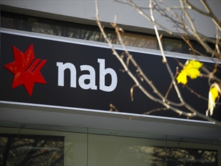 A sign of the National Australia Bank (NAB) in Canberra