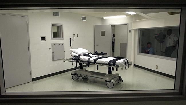 Seen from the viewing room, Alabama's lethal injection chamber. Picture: AP.