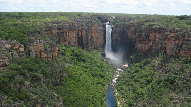 Aerial view of waterfall at Kakadu, Northern Territory. Picture: Supplied