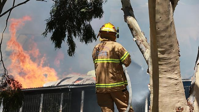Firefighters tackle blazes.