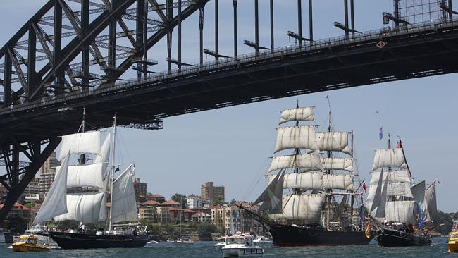 Tall Ship will sail Sydney Harbour on Australia Day.