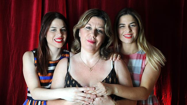 Cooking for their late father - My Kitchen Rules' competitors, twins Helena and Vikki with their mum Sophie Mour...