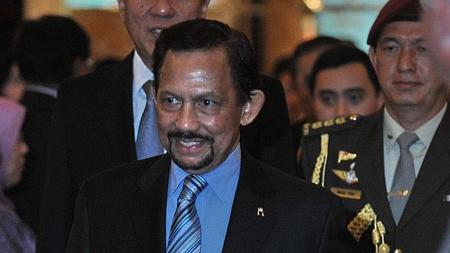 Brunei's Sultan Hassanal Bolkiah, pictured in Singapore as his country postponed tough ne