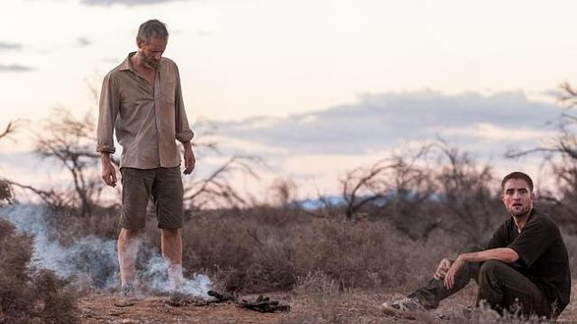 Dystopian future ... Guy Pearce and Robert Pattinson in a scene from The Rover. Picture: