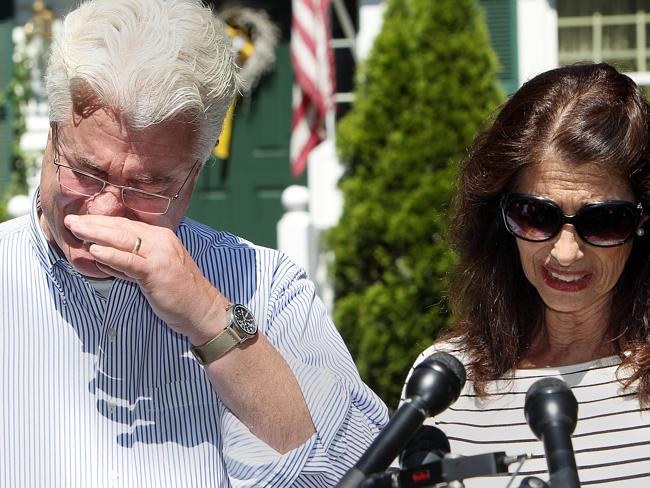 Overcome ... After speaking with US President Barack Obama by phone, John and Diane Foley