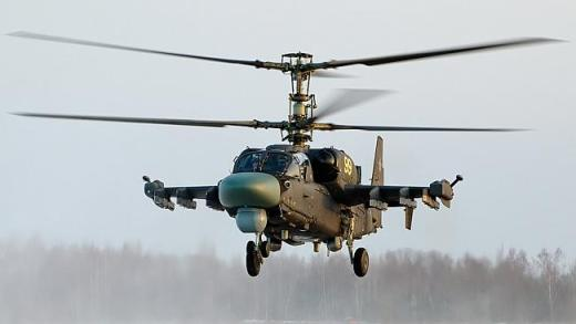 "Over-the-horizon ... One of Russia's new KA52 ""Alligator"" attack helicopters. A new, ""ste"