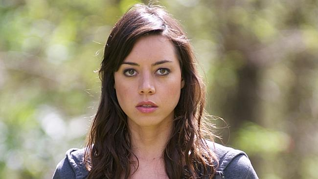 Perfect match ... Aubrey Plaza will voice Grumpy Cat in the famous feline's first movie,