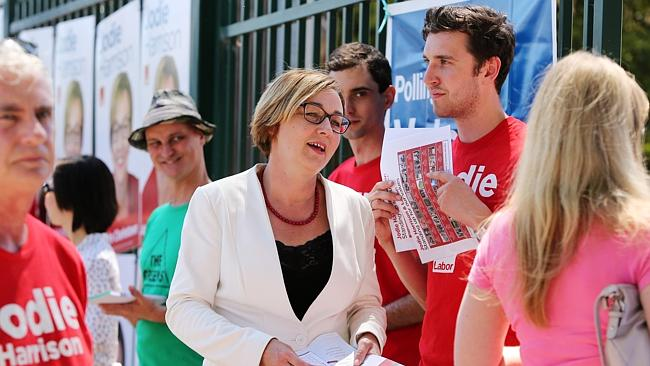 Charlestown Labor candidate and now MP-elect Jodie Harrison at the Charlestown Public Sch