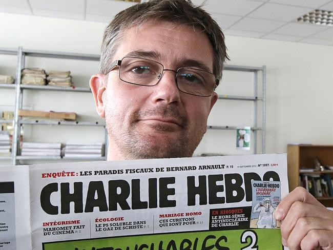 "Editor Stephane Charbonnier, known as ""Charb"" was killed in the attack. Picture: Michel E"