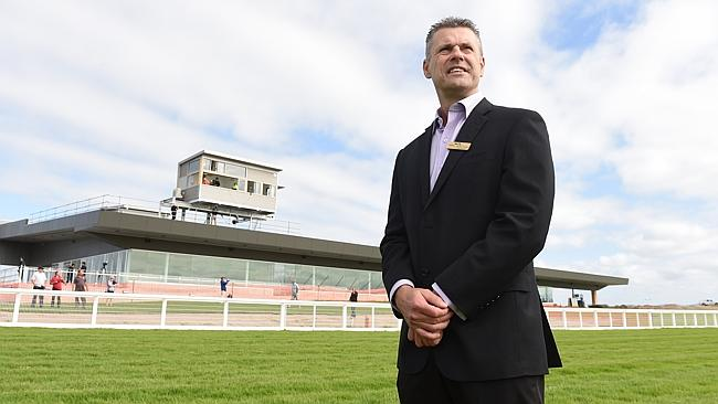 Pakenham Racing Club chief executive Michael Hodge at the new track. Picture: Jason Sammo